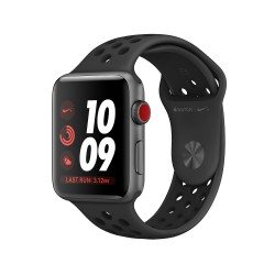Apple Watch Nike Series 3 GPS + Cellular, 42mm Space Grey Aluminium Case with Anthracite/Black Nike Sport Band
