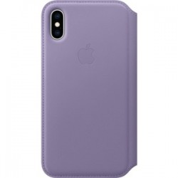 iPhone XS Leather Folio - Lilac