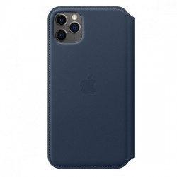 iPhone 11 Pro Max Leather Folio - Deep Sea Blue