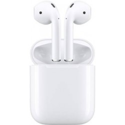 Apple AirPods with Charging Case Bluetooth Headset with Mic  (White, True Wireless)