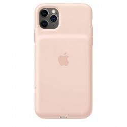 iPhone 11 Pro Max Smart Battery Case with Wireless Charging - Pink Sand