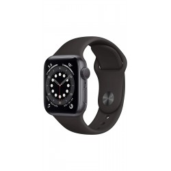 Apple M00H3HN/A Watch Series 6 GPS - 44mm Space Gray Aluminium Case With Black Sport Band
