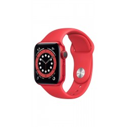 Apple M00M3HN/A Watch Series 6 GPS - 44mm Red Aluminium Case With Red Sport Band
