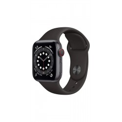 Apple M06P3HN/A Watch Series 6 GPS + Cellular - 40mm Space Grey Aluminium Case With Black Sport Band