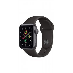 Apple MYDT2HN/A Watch SE GPS - 44mm Space Gray Aluminium Case With Black Sport Band