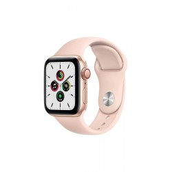 Apple MYEH2HN/A Watch SE GPS + Cellular - 40mm Gold Aluminium Case With Pink Sand Sport Band