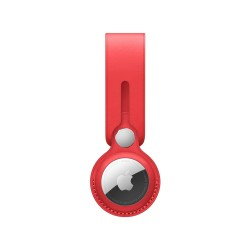 Apple AirTag Leather Loop,(Made With Specially Tanned French Leather, MK0V3ZM/A, Red)