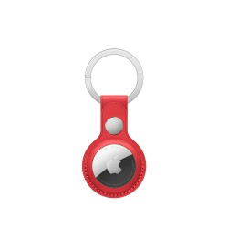Apple AirTag Leather Key Ring (Crafted With Finest European Leather, MK103ZM/A, Red)