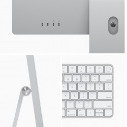 New Apple iMac with 4.5K Retina Display (24-inch, Apple M1 chip with 8‑core CPU and 8‑core GPU, 16 GB RAM, 2 TB) – SILVER